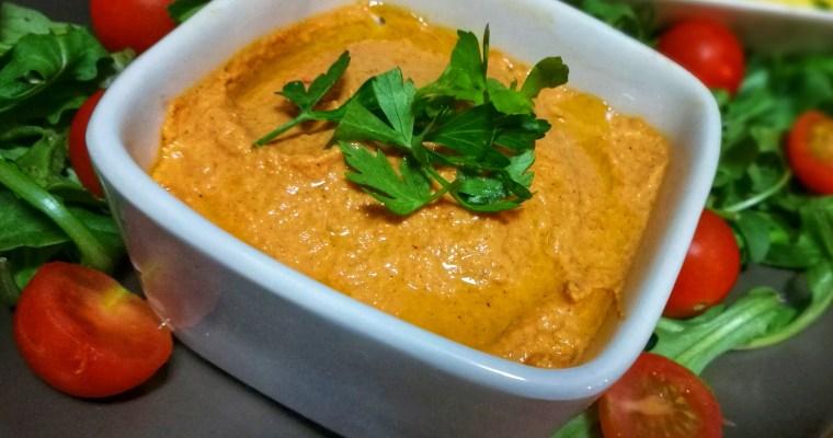 Paté vegano de pimientos asados – ¡Un delicioso «Dip vegetal» lleno de proteínas!