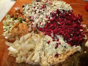 ingredientes hamburguesas veganas de remolacha y avena