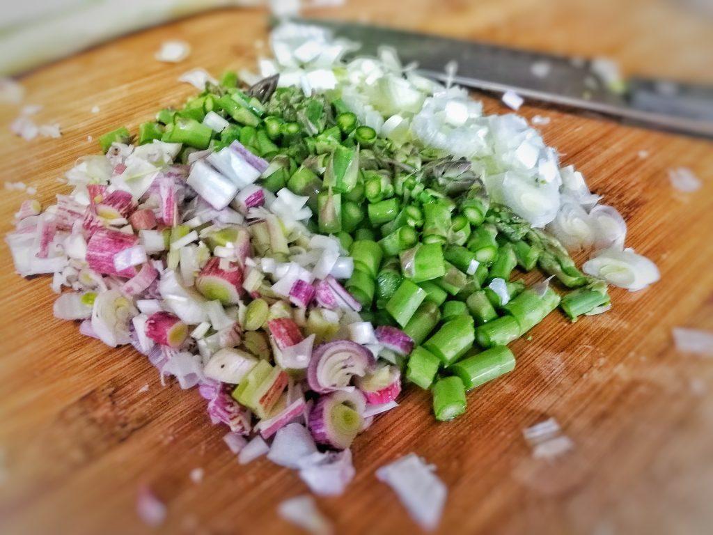 Revuelto vegano de tofu y esparragos - ingredientes