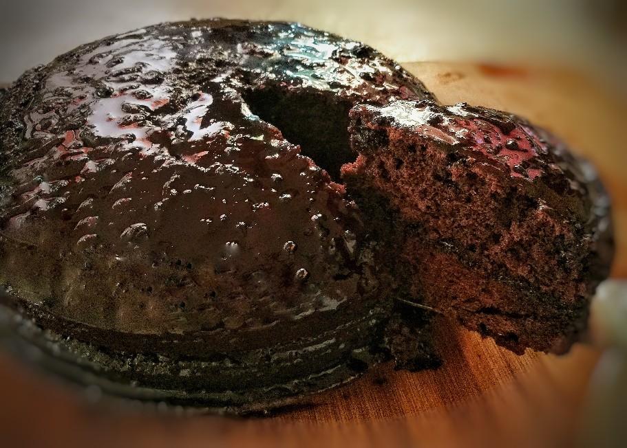 Tarta vegana de chocolate casera