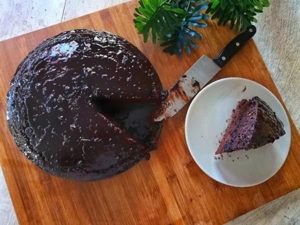 Tarta de chocolate vegana casera