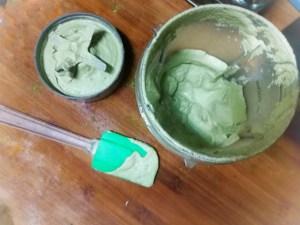 ingredientes de la tarta mezclados y listos para calentar