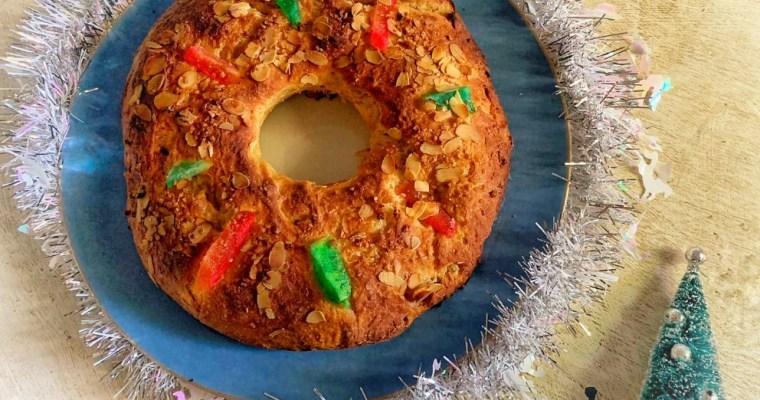 Roscón de Reyes vegano ¡Con relleno de chocolate!