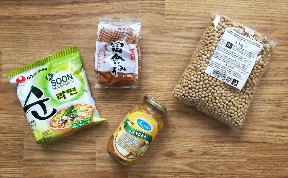 gekocht in de aziatische supermarkt