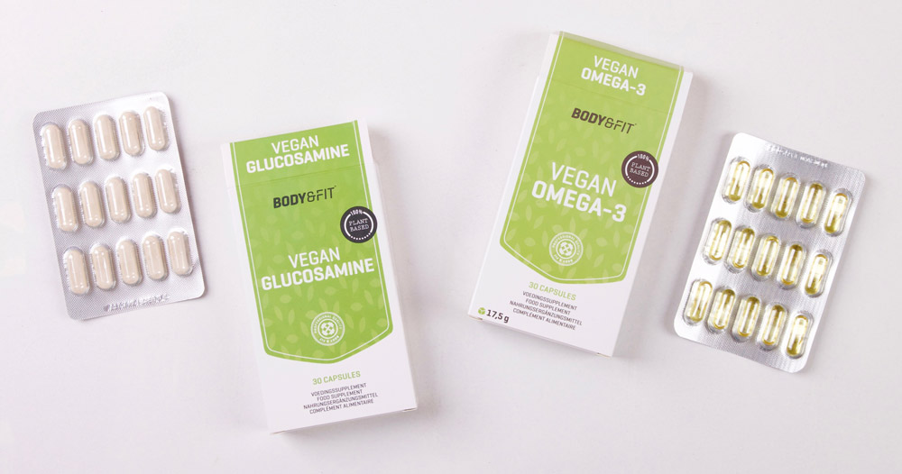 Vegan omega3 en glucosamine bij Body & Fit