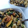 Fall Vegan Pasta Salad served in two bowls with forks