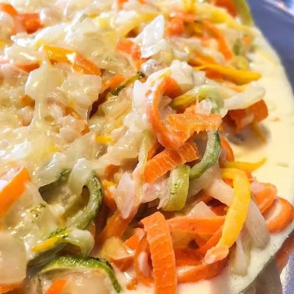 Macarrão de Legumes com Molho al Limone Vegano - Receita Veganizadores