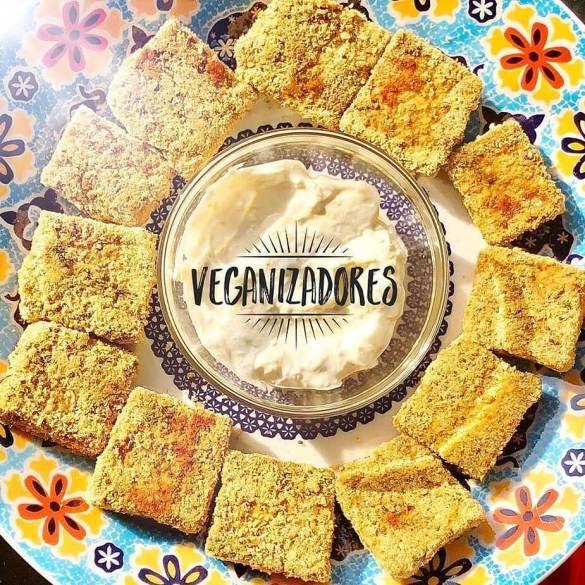 Nuggets Vegano de Tofu (Tofu Empanado) Receita Vegana | Veganizadores