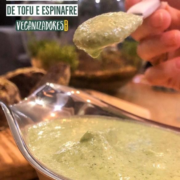 Patê de Tofu e Espinafre - Receita Vegana