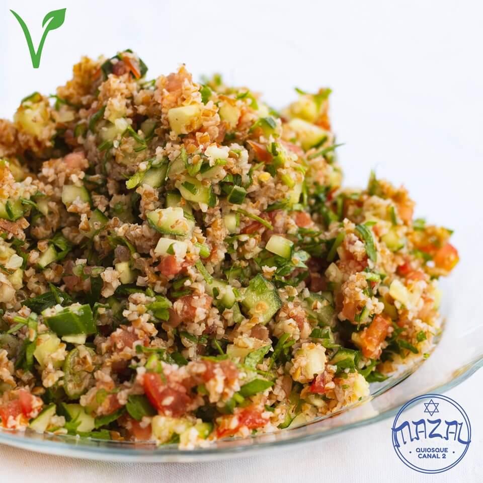 Mazal Quiosque Canal 2 Vegano. Tabule Culinária Israelense.