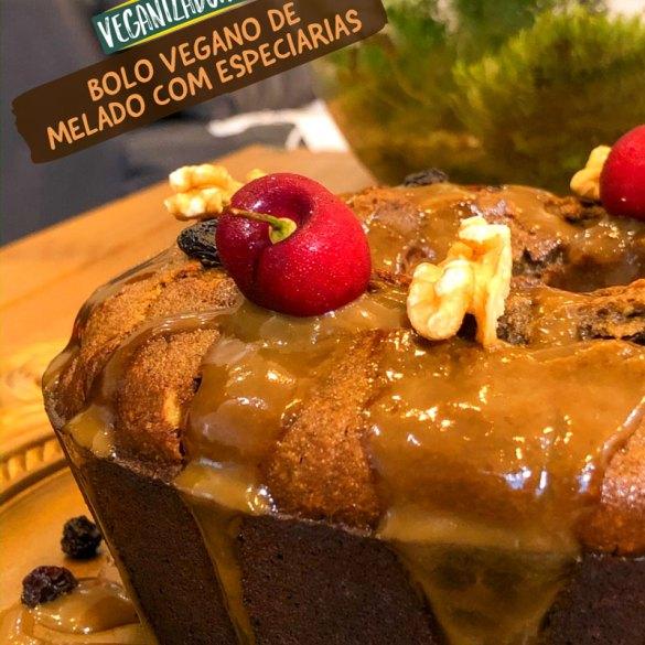 Bolo Vegano de Melado com Especiarias - Receita Vegana