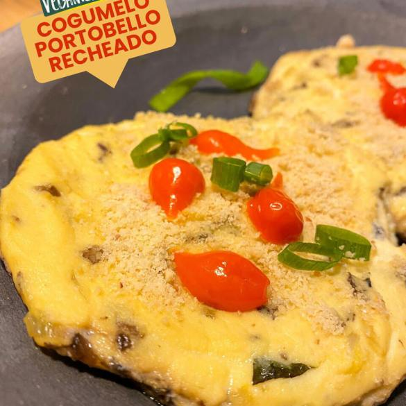 Cogumelo Portobello Recheado - Receita Vegana
