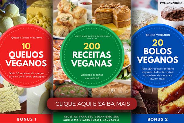 200 Receitas Veganas Comida Curso Culinária Vegana Vegano