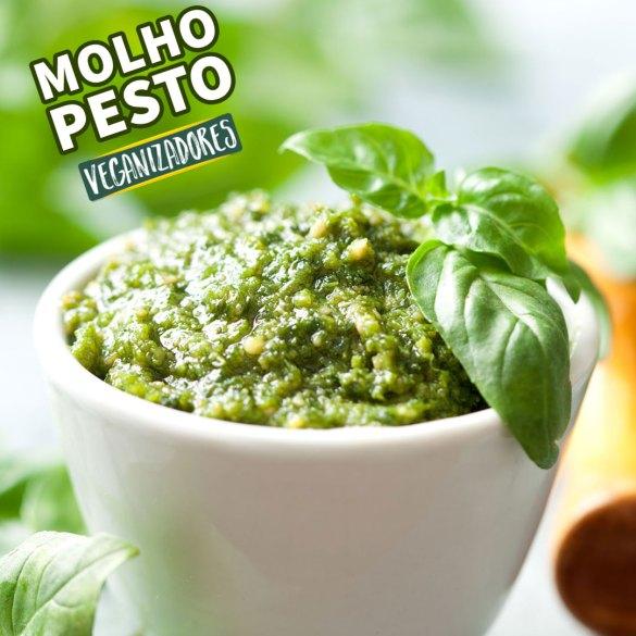 Molho Pesto de Manjericão - Receita Vegana - Veganizadores