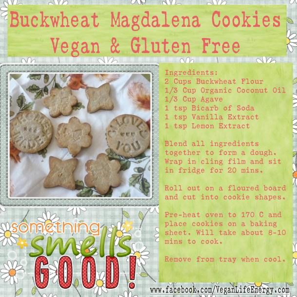 Buckwheat Magdalena Cookies