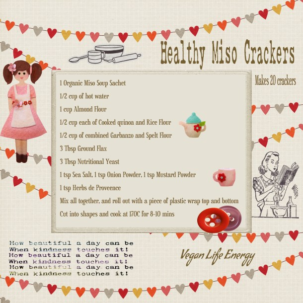 Healthy Miso Crackers (Vegan)
