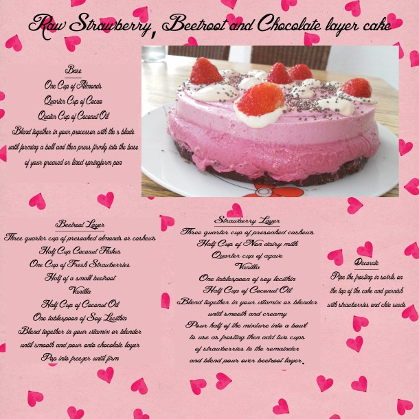 strawberry and beetroot layer cake
