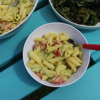Avocado, Mint and Tomato Pasta Salad