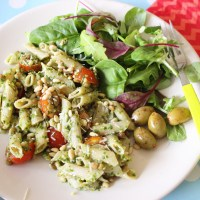 Lentil and Pesto Pasta Salad