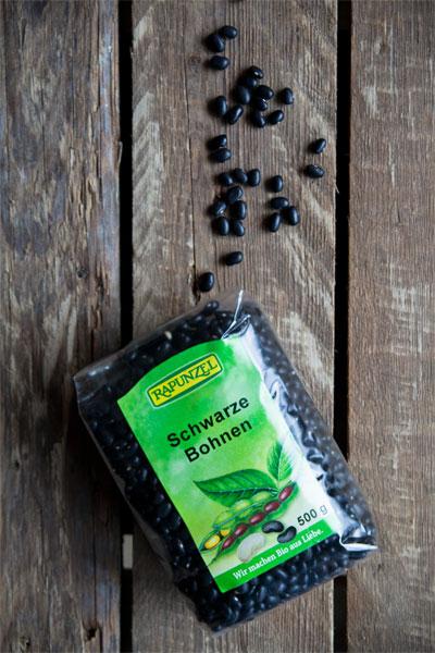 Schwarze Bohnen Rapunzel Rezept vegan