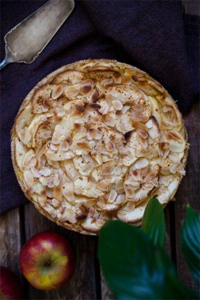 Apfelkuchen Apfeltarte Mit Vanillefullung Vegan Vegan Mom