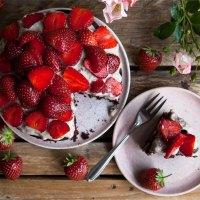 Schoko Erdbeer Torte (vegan)