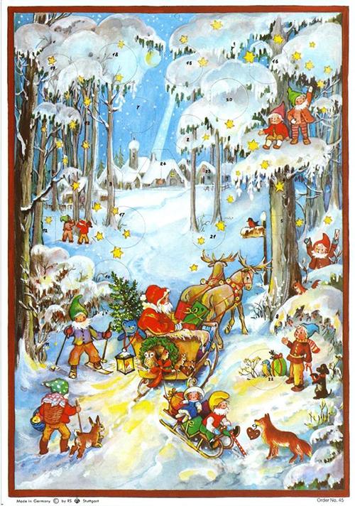 Advenskalender Weihnachtsmann