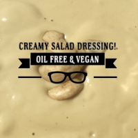 New Favorite Vegan Salad Dressing - Oil free