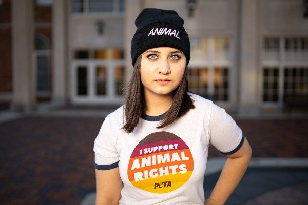 Naomi Mathew's is fighting to have an animal rights club at Truman State University college