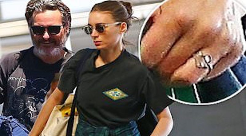 Joaquin Phoenix and Rooney Mara have gotten engaged! Mara has been seen around town rocking a large diamond engagement ring.