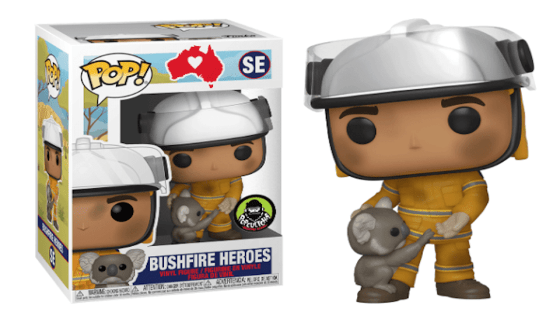 Funko Pop is releasing a new Vinyl Pop Australian Firefighter figure with all proceeds going to help the animal victims of these fires.
