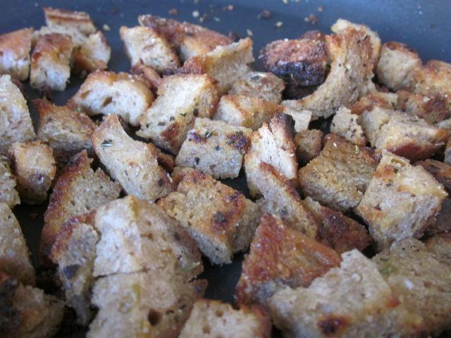 Stale Bread? Nahhh. Croutons!