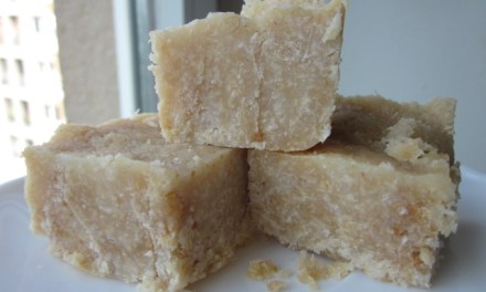 Relatively Healthy Coconut Peanut Butter Fudge