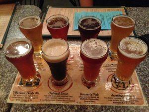 Craft Beer Flight Brewery Mountain View | Vegan Nom Noms