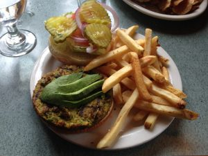 Veggie Burger Chair 5 Girdwood Alaksa | Vegan Nom Noms