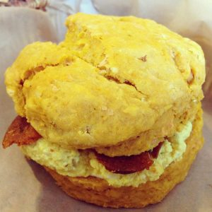 Breads on Oak New Orleans Pumpkin Daiya Biscuit Sandwich | Vegan Nom Noms