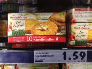 Heichelheimer Kartoffelpuffer Vegan Berlin Kaufland Schöneweide