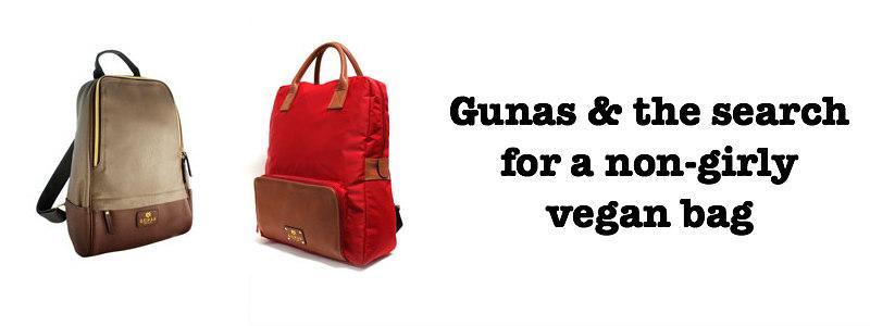 Gunas – Non-Girly Vegan Handbag & Backpack Options