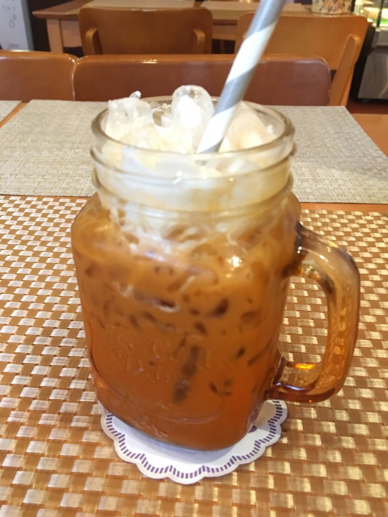 vegan thai iced tea from may veggie home bangkok