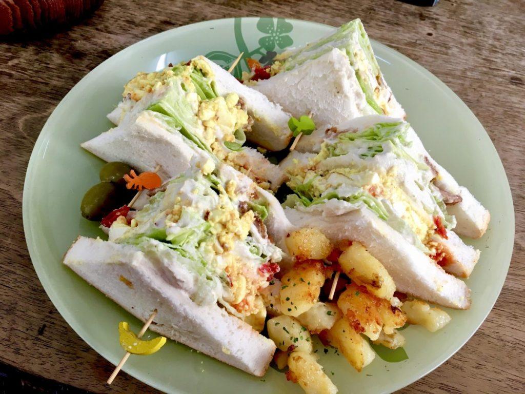 Bonita Cafe and Social Club vegan club sandwich bangkok