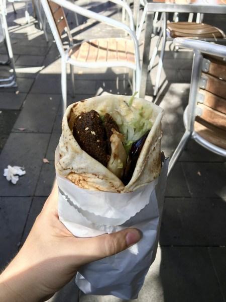 Vegan Melbourne - Half Moon Cafe Falafel Sandwich