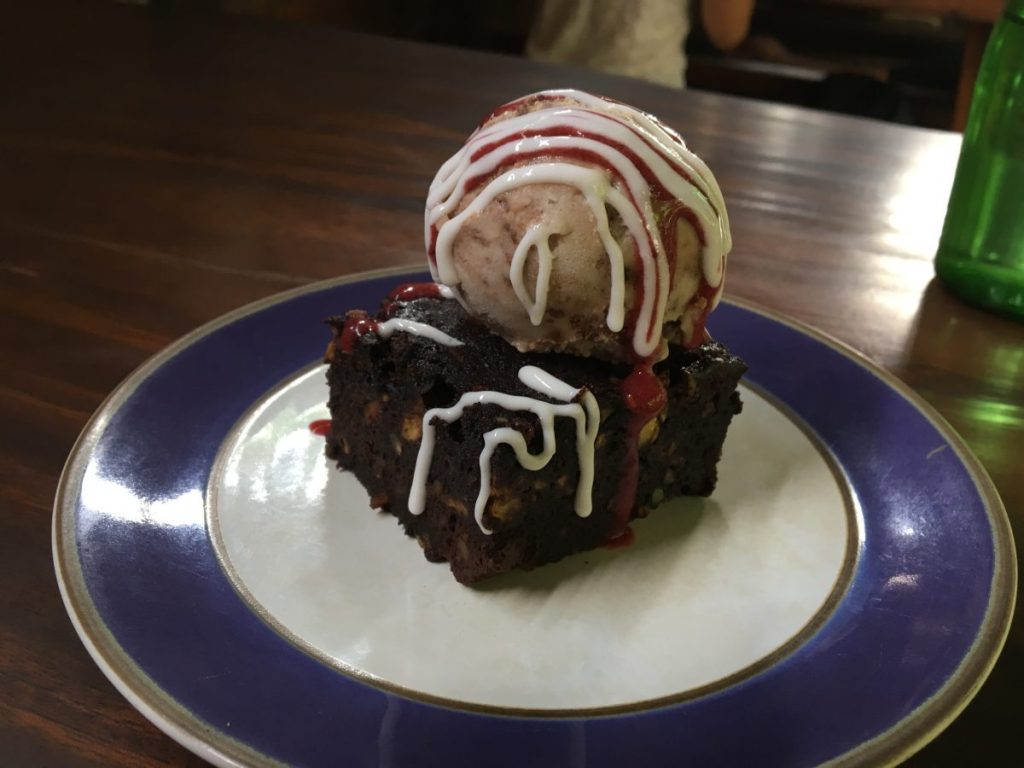 Soma Cafe Ubud Vegan Brownie