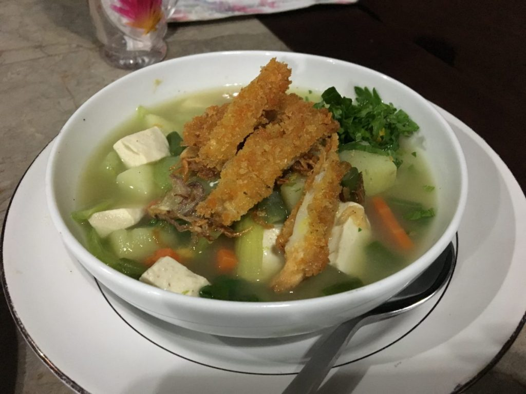 Siboghana Waroeng Ubud Vegan Vegetable Soup