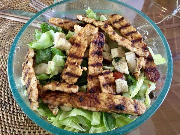 Sage Bali Vegan Ubud Tempeh Caesar Salad
