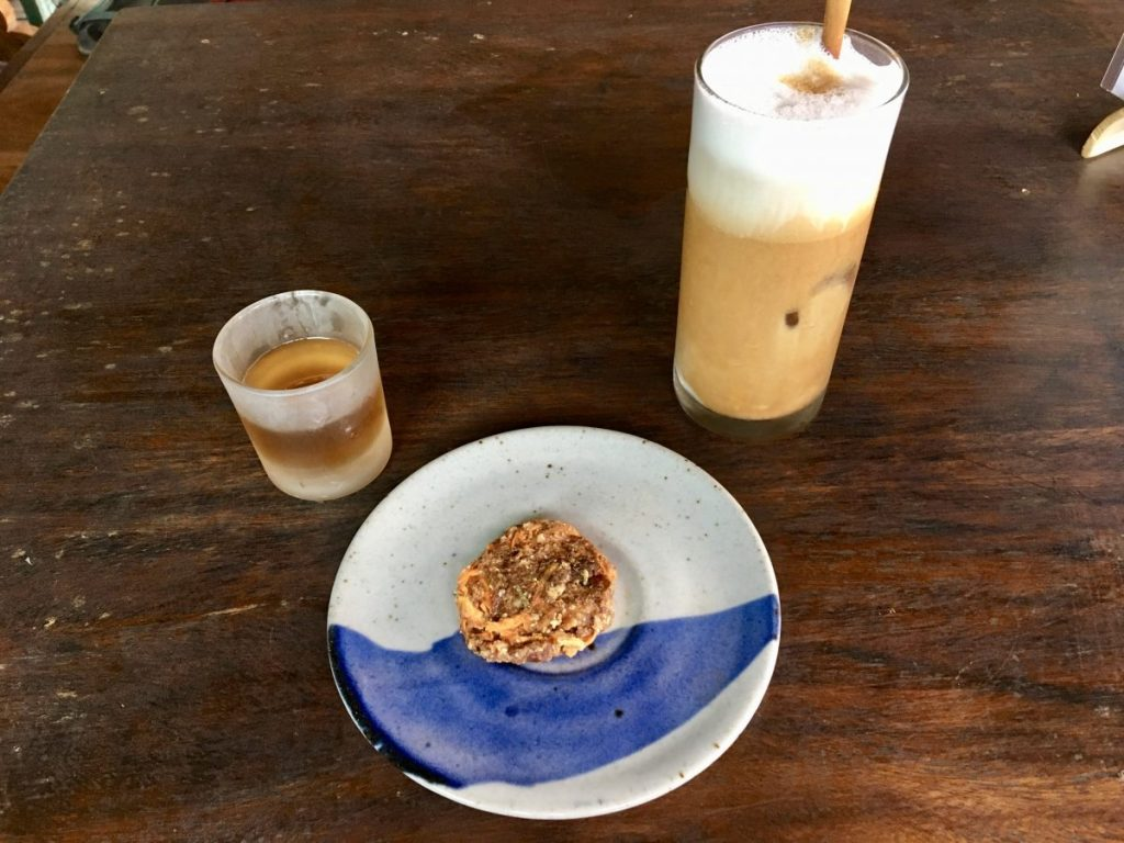 The Garden Kafe Ubud Non-Dairy Milk Latte Raw Vegan Cookie