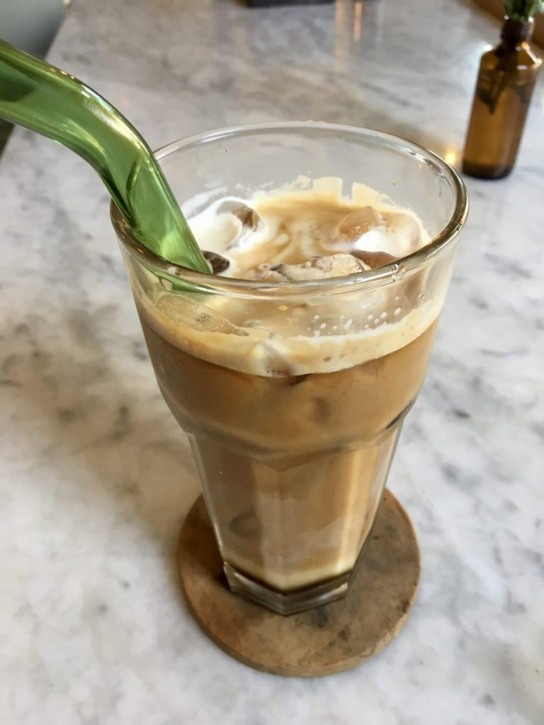 Mudra Cafe Ubud - Vegan Iced Lattee