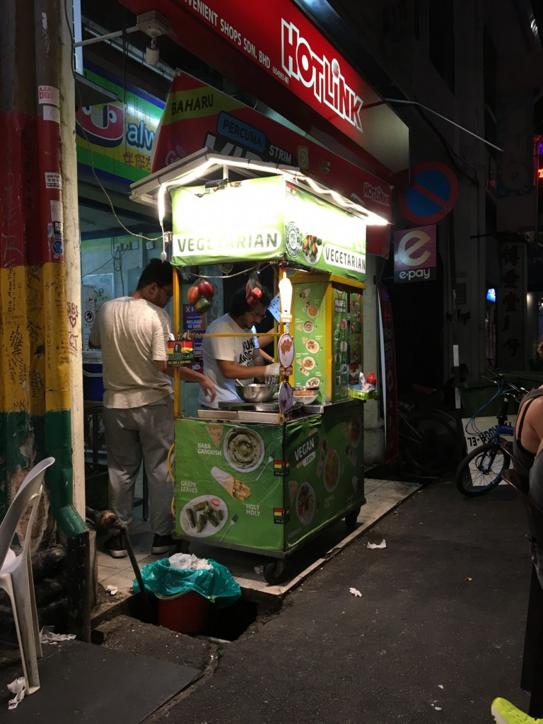 vegan penang falafel stand chulia street