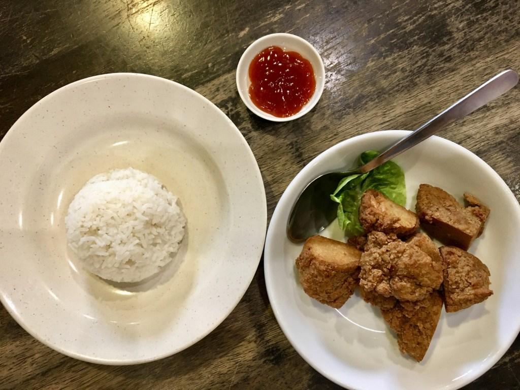 vegan penang zen xin vegetarian restaurant fried chicken