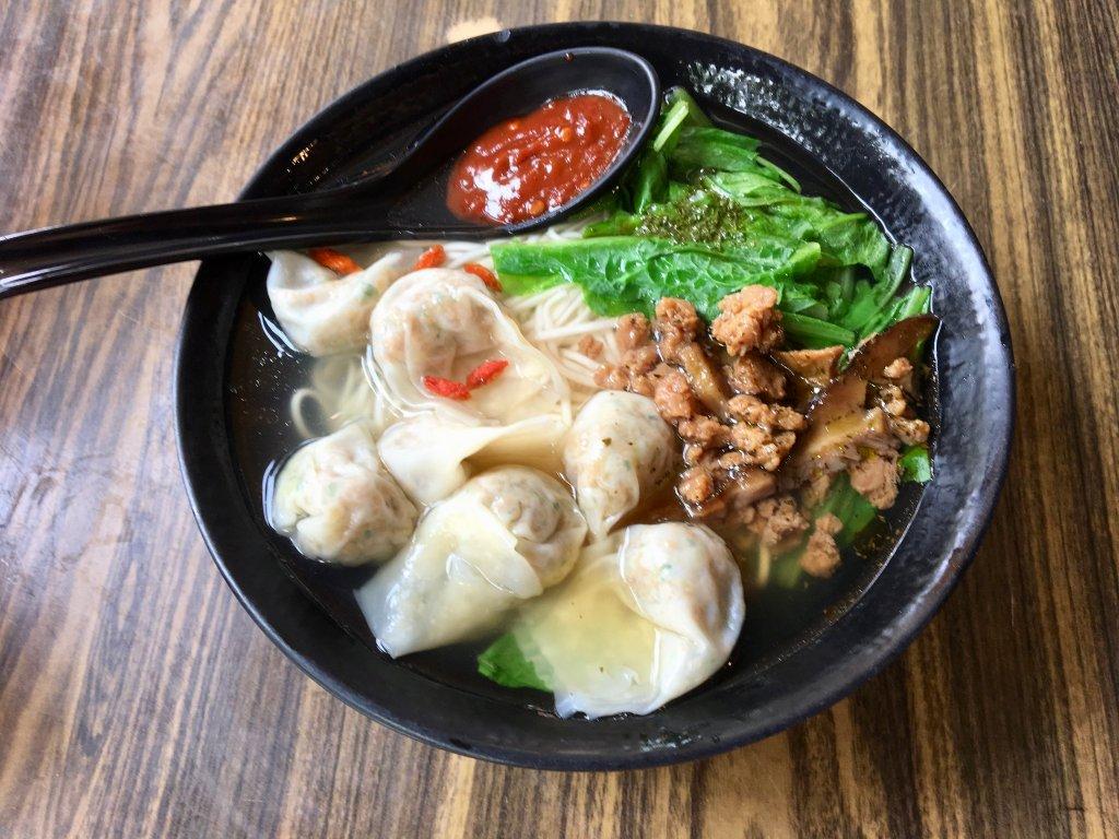 noodle wantan soup taipei vegetarian