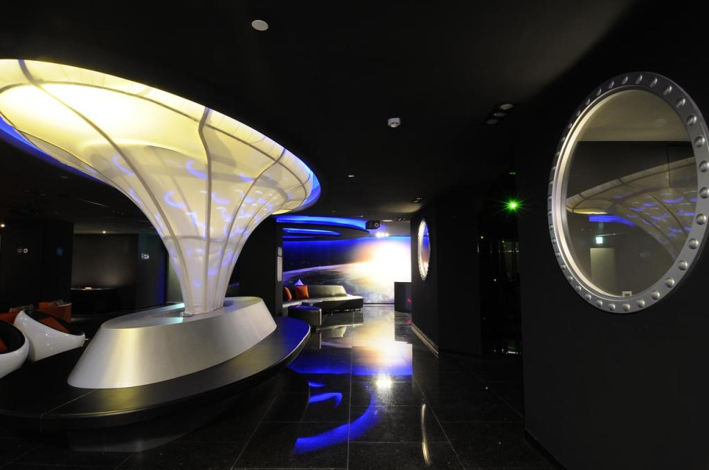 space-themed hostel in Taipai called Space Inn
